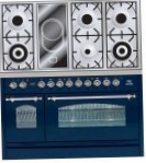 ILVE PN-120V-MP Blue Kitchen Stove, type of oven: electric, type of hob: combined
