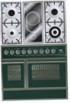 ILVE QDC-90VW-MP Green Kitchen Stove, type of oven: electric, type of hob: combined