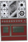 ILVE QDC-90VW-MP Red Kitchen Stove, type of oven: electric, type of hob: combined