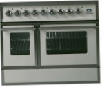 ILVE QDC-90VW-MP Antique white Kitchen Stove, type of oven: electric, type of hob: combined