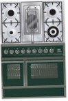 ILVE QDC-90RW-MP Green Kitchen Stove, type of oven: electric, type of hob: combined