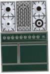ILVE QDC-90B-MP Green Kitchen Stove, type of oven: electric, type of hob: combined