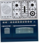 ILVE PN-120S-VG Blue Kitchen Stove, type of oven: gas, type of hob: gas