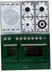 ILVE MTD-100SD-MP Green Kitchen Stove, type of oven: electric, type of hob: gas