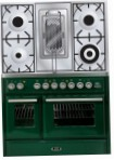 ILVE MTD-100RD-MP Green Kitchen Stove, type of oven: electric, type of hob: gas