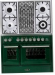 ILVE MTD-100BD-MP Green Kitchen Stove, type of oven: electric, type of hob: gas