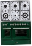 ILVE MTD-1006D-MP Green Kitchen Stove, type of oven: electric, type of hob: gas