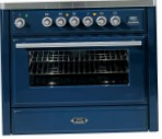 ILVE MT-90F-MP Blue Kitchen Stove, type of oven: electric, type of hob: combined