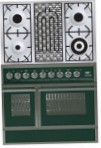 ILVE QDC-90BW-MP Green Kitchen Stove, type of oven: electric, type of hob: combined