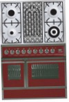 ILVE QDC-90BW-MP Burgundy Kitchen Stove, type of oven: electric, type of hob: combined