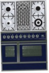 ILVE QDC-90BW-MP Blue Kitchen Stove, type of oven: electric, type of hob: combined