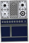 ILVE QDC-90B-MP Blue Kitchen Stove, type of oven: electric, type of hob: combined