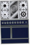 ILVE QDC-90V-MP Blue Kitchen Stove, type of oven: electric, type of hob: combined