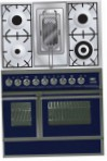 ILVE QDC-90RW-MP Blue Kitchen Stove, type of oven: electric, type of hob: combined