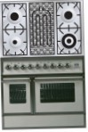 ILVE QDC-90BW-MP Antique white Kitchen Stove, type of oven: electric, type of hob: combined