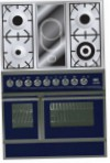 ILVE QDC-90VW-MP Blue Kitchen Stove, type of oven: electric, type of hob: combined