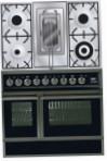 ILVE QDC-90RW-MP Matt Kitchen Stove, type of oven: electric, type of hob: combined