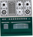 ILVE PN-120B-MP Green Kitchen Stove, type of oven: electric, type of hob: combined