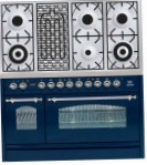 ILVE PN-120B-MP Blue Kitchen Stove, type of oven: electric, type of hob: combined