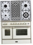 ILVE MD-100BD-MP Antique white Kitchen Stove, type of oven: electric, type of hob: gas