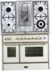 ILVE MD-100RD-MP Antique white Kitchen Stove, type of oven: electric, type of hob: gas