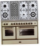 ILVE MS-120BD-MP Antique white Kitchen Stove, type of oven: electric, type of hob: gas