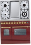 ILVE PDN-90F-MP Red Kitchen Stove, type of oven: electric, type of hob: gas