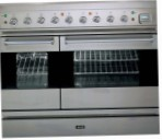 ILVE PD-90BL-MP Stainless-Steel Kitchen Stove, type of oven: gas, type of hob: combined