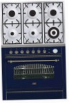 ILVE P-906N-VG Blue Kitchen Stove, type of oven: gas, type of hob: gas