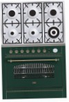 ILVE P-906N-VG Green Kitchen Stove, type of oven: gas, type of hob: gas