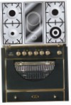 ILVE MCA-90VD-VG Matt Kitchen Stove, type of oven: gas, type of hob: combined