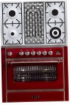 ILVE M-90BD-MP Red Kitchen Stove, type of oven: electric, type of hob: gas