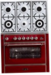 ILVE M-906D-MP Red Kitchen Stove, type of oven: electric, type of hob: gas