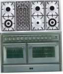 ILVE MTS-120BD-MP Stainless-Steel Kitchen Stove, type of oven: electric, type of hob: gas