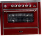 ILVE M-90-MP Red Kitchen Stove, type of oven: electric, type of hob: gas
