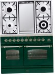 ILVE PDN-100F-VG Green Kitchen Stove, type of oven: gas, type of hob: gas