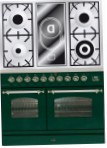 ILVE PDN-100V-VG Green Kitchen Stove, type of oven: electric, type of hob: combined
