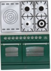 ILVE PDN-100S-VG Green Kitchen Stove, type of oven: gas, type of hob: gas