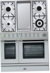 ILVE PDL-90F-VG Stainless-Steel Kitchen Stove, type of oven: gas, type of hob: gas