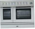 ILVE PDL-90B-MP Stainless-Steel Kitchen Stove, type of oven: electric, type of hob: gas