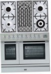 ILVE PDL-90B-VG Stainless-Steel Kitchen Stove, type of oven: gas, type of hob: gas