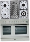 ILVE PDL-100B-VG Stainless-Steel Kitchen Stove, type of oven: gas, type of hob: gas