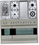 ILVE PF-120FR-MP Stainless-Steel Kitchen Stove, type of oven: electric, type of hob: gas