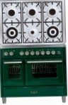 ILVE MTD-1006D-E3 Green Kitchen Stove, type of oven: electric, type of hob: gas