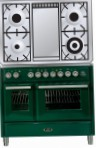 ILVE MTD-100FD-E3 Green Kitchen Stove, type of oven: electric, type of hob: gas