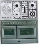ILVE MTS-120SD-E3 Stainless-Steel Kitchen Stove, type of oven: electric, type of hob: gas