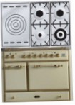 ILVE MCD-100SD-E3 Antique white Kitchen Stove, type of oven: electric, type of hob: gas