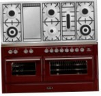 ILVE MT-150FD-VG Red Kitchen Stove, type of oven: gas, type of hob: gas