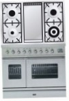 ILVE PDW-100F-MW Stainless-Steel Kitchen Stove, type of oven: electric, type of hob: gas