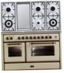 ILVE MS-120FD-VG Antique white Kitchen Stove, type of oven: gas, type of hob: gas